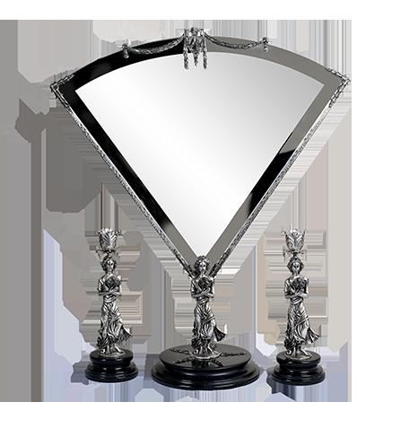 آیینه و شمعدان نقره